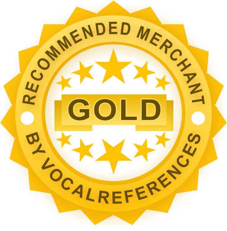 Gold Review Badge from VocalReferences
