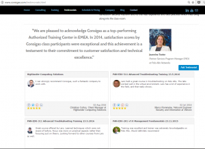 Consigas uses VocalReferences to display and capture testimonials