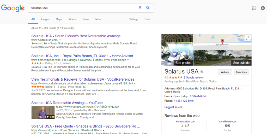Local Search Results for Solarus
