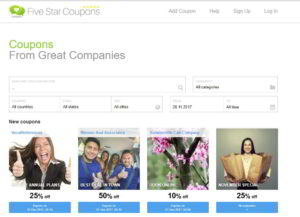 Five Star Coupons Home Page