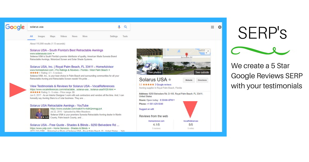 Review SERP for Digital Marketing