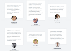 Testimonial Examples from a website